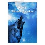 Cartão do solstício de inverno do lobo do fantasma