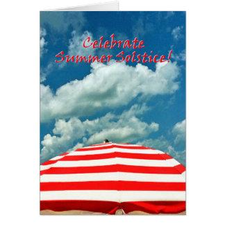 Cartão do solstício de verão do guarda-chuva de