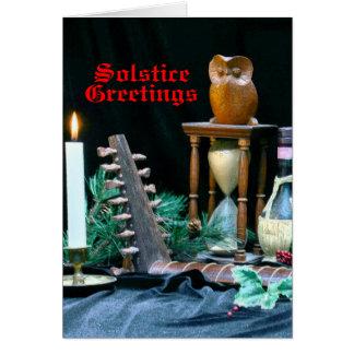 Cartão do solstício do renascimento