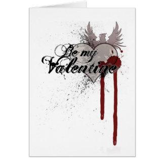 Cartão do Splatter do sangue do Grunge dos