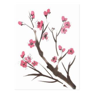 Cartão do Sprig da flor da ameixa