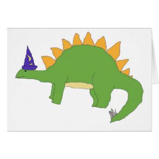Cartão do Stegosaurus do feiticeiro