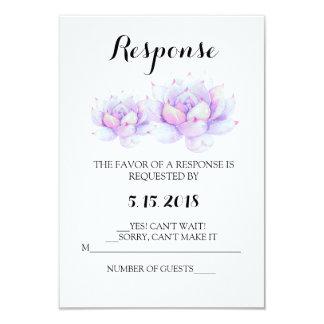 Cartão do Succulent RSVP