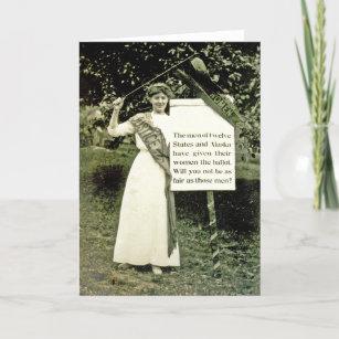 Cartão do Suffragette do vintage