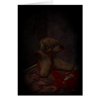 Cartão do suicídio do urso do brinquedo