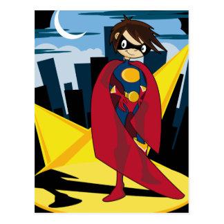 Cartão do super-herói da menina