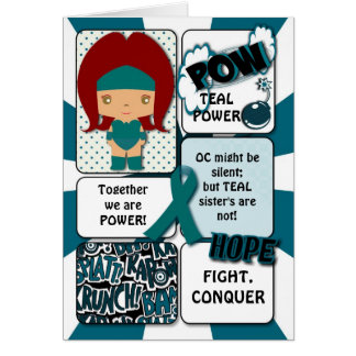 Cartão do super-herói do câncer de ovário