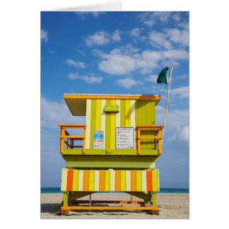 Cartão do suporte da guarda de vida de Miami Beach