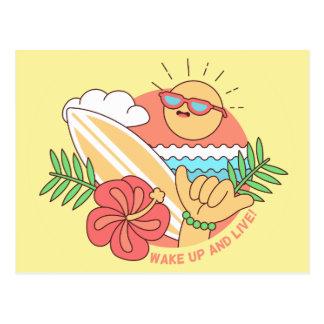 Cartão do surfista do verão
