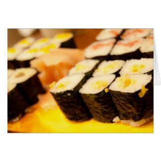 Cartão do sushi de Japão