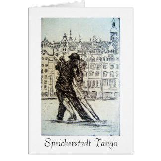 Cartão do tango de Speicherstadt