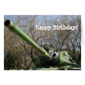 Cartão do tanque de exército do feliz aniversario