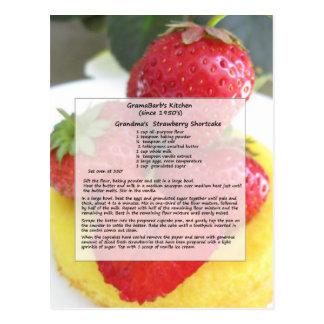 Cartão do tarte de morangos