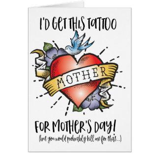 Cartão do tatuagem do dia das mães