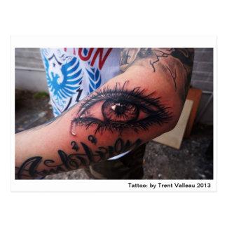 Cartão do tatuagem do olho