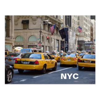 Cartão do táxi de NYC