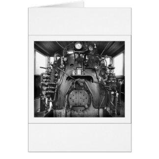 Cartão do táxi do trem do motor de vapor