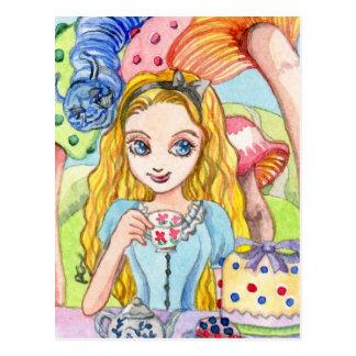 Cartão do tea party de Alice