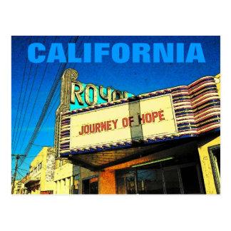 Cartão do teatro de Califórnia