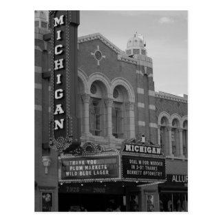 Cartão do teatro de Michigan