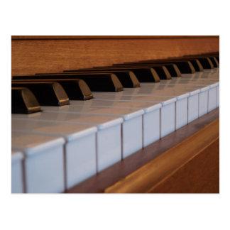 Cartão do teclado de piano