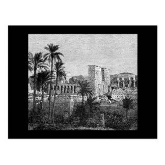 Cartão do templo de Egipto antigo