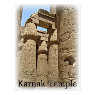 Cartão do templo de Karnak
