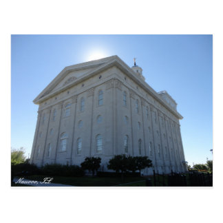 Cartão do templo de Nauvoo LDS