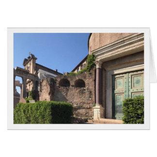 Cartão do templo de Romulus