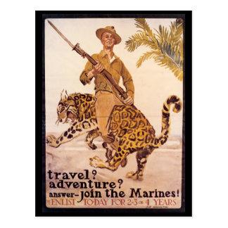 Cartão do tempo de guerra, fuzileiros navais da