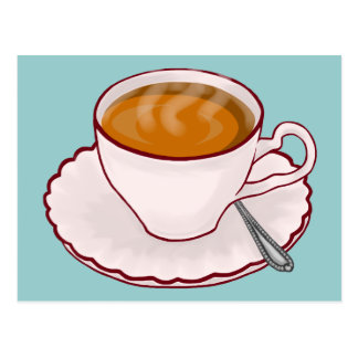 Cartão do tempo do chá