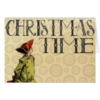 """Cartão do """"tempo do natal vintage Natal """""""