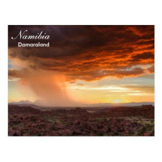 Cartão do temporal de Namíbia - de Damaraland