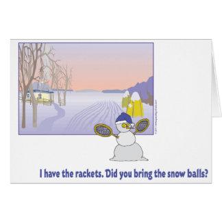 Cartão do tênis do dia do jogo do inverno