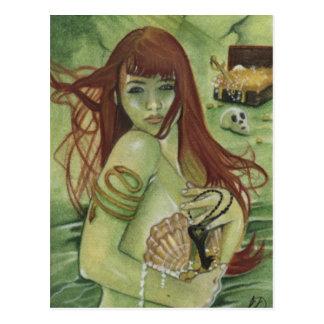 Cartão do tesouro da sereia