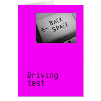 Cartão do teste de condução