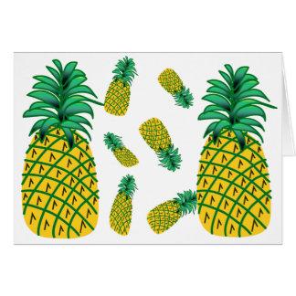 Cartão do teste padrão do abacaxi