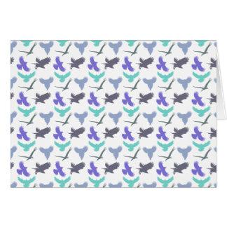 Cartão do teste padrão do pássaro
