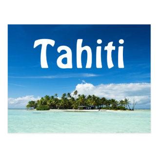 Cartão do texto da ilha de Tahiti