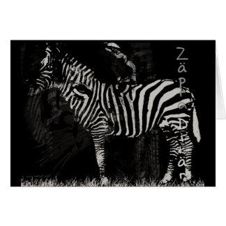 Cartão do tigre da zebra