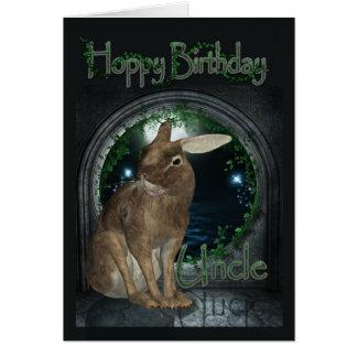 Cartão do tio aniversário - aniversário Hoppy com