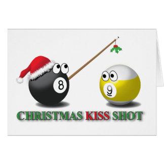 Cartão do tiro do beijo do Natal