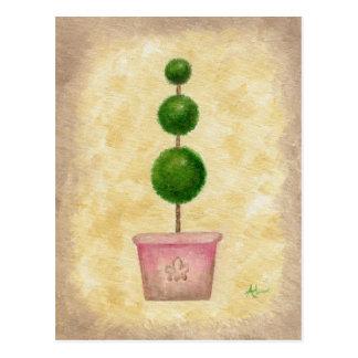 Cartão do Topiary do globo