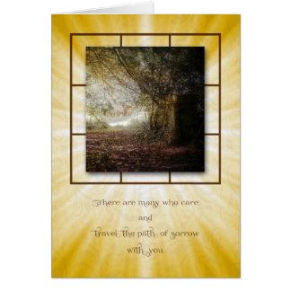Cartão do trajeto de floresta da simpatia