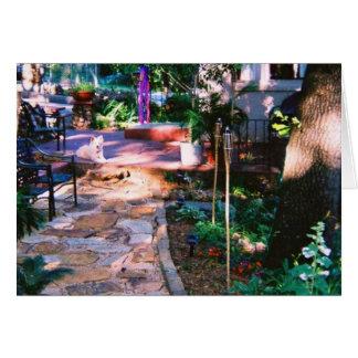 Cartão do trajeto do jardim do Flagstone