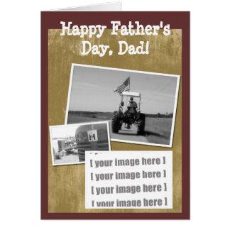 Cartão do trator do dia dos pais: Adicione sua