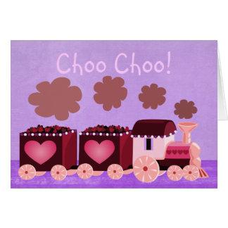 Cartão do trem de Choo Choo dos namorados