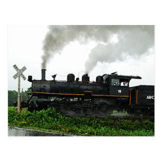 Cartão do trem de excursão