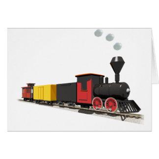 Cartão do trem do brinquedo