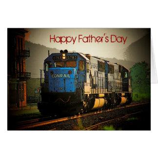 Cartão do trem do dia dos pais